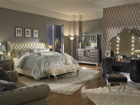 swank bedroom set aico swank pearl upholstered bedroom set