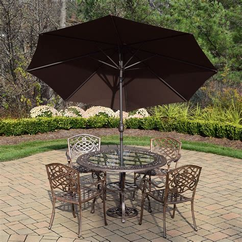 oakland living mississippi 7 cast aluminum patio set