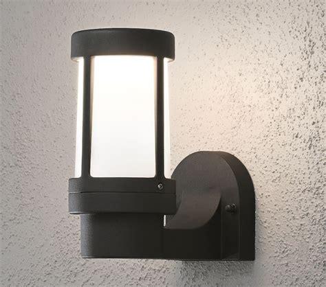 konstsmide siena 1 light outdoor wall light matt black finish with opal acrylic diffuser 7513