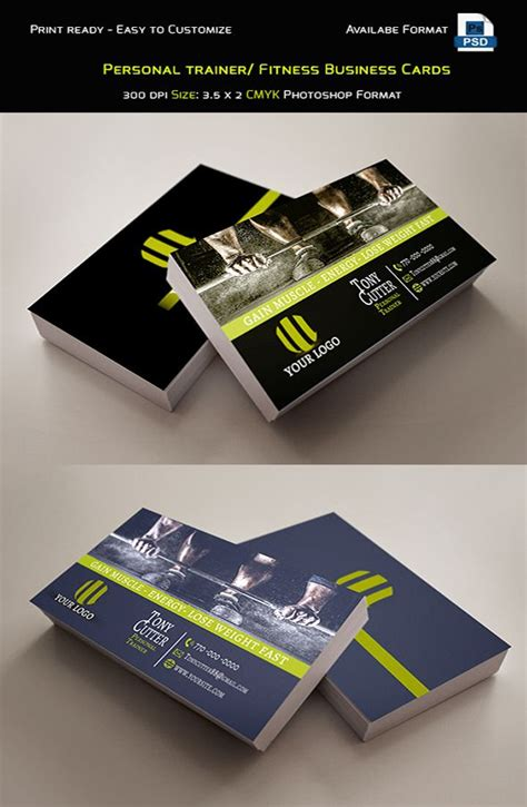 A personal trainer is not only a trainer, but is also a teacher, a motivator, a nutritionist, and of course a friend to help you achieve your fitness or weight goals. Personal Trainer / Fitness Business Cards Template. Photo ...