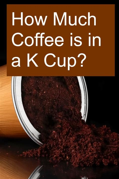 In the show though, gibbs has drank 175 cups of coffee on the show. How Much Coffee is in a K Cup?