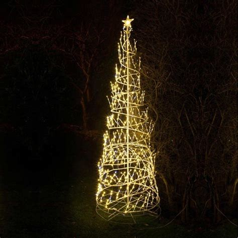 twinkling white christmas lights 8ft warm white led twinkling spiral tree christmas light