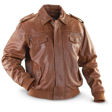 Cowhide Jackets by Vintage 174 Distressed Cowhide Leather Jacket Cognac