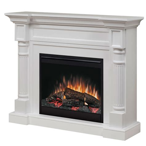 Dimplex Winston Electric Fireplace Mantel Package in White