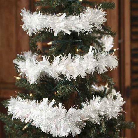 can you still buy xmas tensil white iridescent tinsel garland 6 garlands and winter