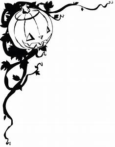Halloween border black and white free clipart images ...