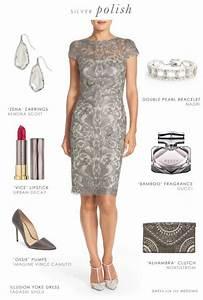 grey lace sheath dress for a wedding guest or mother of With grey dress for wedding guest