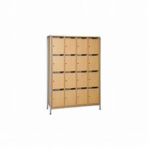 meuble eleves 16 cases avec porte avec structure laterale With meuble 16 cases