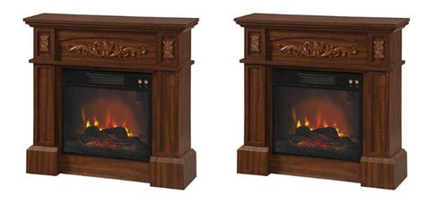 kmart essential home livingston electric fireplace
