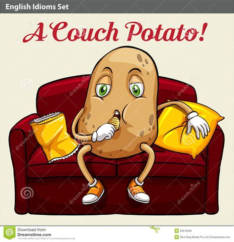 a couch potato stock vector illustration of image literal 50510258
