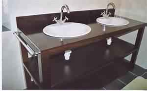 Meuble Salle De Bain Wengé : natural cypress meubles salle de bain ~ Edinachiropracticcenter.com Idées de Décoration