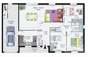pavillon de plain pied detail du plan de pavillon de With plan appartement 150 m2 7 plan maison moderne 120m2