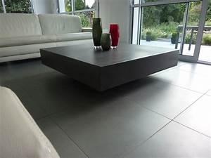 designer concrete table With deco cuisine pour table basse