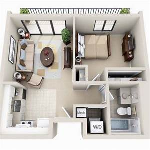 beautiful 3d small house floor plans one bedroom on budget With plan de petite maison 0 small apartment 40m2 renovation by interiorma2