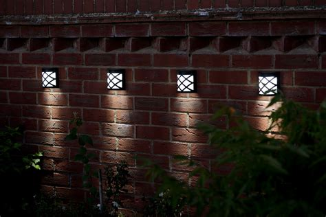 lights for fence wireless garden solar fence light cool white 4 8