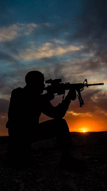 Sniper Iphone Wallpapers Soldiers Soldier Sunset Military