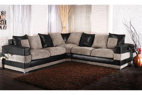 grey fabric corner soho black grey fabric corner sofa