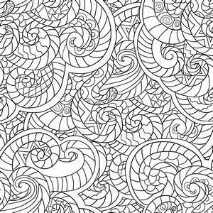 Disegni da colorare per adulti Seamless Pattern di reticolo di seamles di wavesvector con
