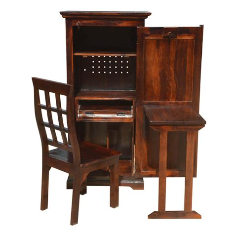 Wooden Armoire Cabinets by Solid Wood Computer Desk With Armoire Storage Cabinet