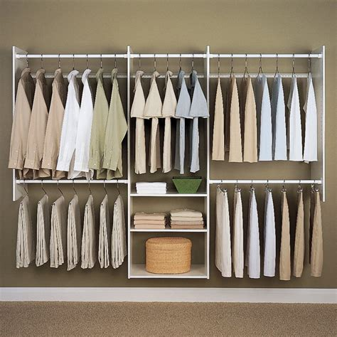 Easy Closet Organizers by Easy Track Closet 4 8 Ft White Deluxe Closet Starter