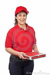Pizza Delivery Woman Royalty Free Stock Photo - Image: 5021175