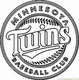 Twins Coloring Minnesota Pages Mlb Atlanta Braves Printable Getcolorings Pdf Sports Coloringpages101 sketch template