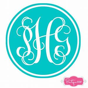circle monogram stickers kamos sticker With circle monogram