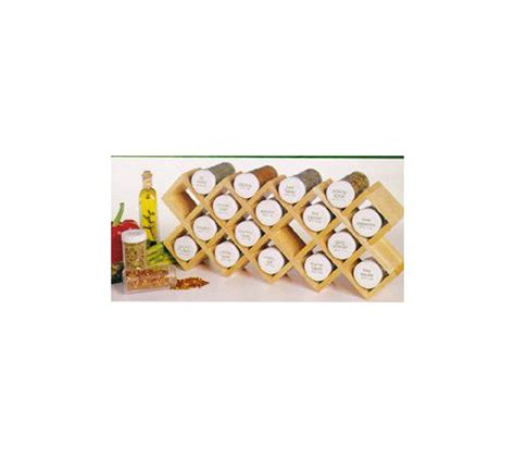 Lipper Spice Rack by Lipper 18 Bottle Filled Honeycomb Spice Rack Qvc