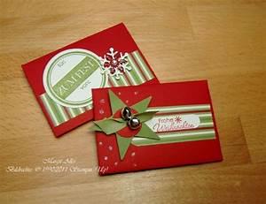 Gutscheine Verpacken Weihnachten : auch geldgeschenke lassen sich mit stampin up sehr gut verpacken margits schatztruhe ~ Eleganceandgraceweddings.com Haus und Dekorationen