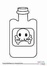 Colouring Poison Bottle Become Member Halloween sketch template