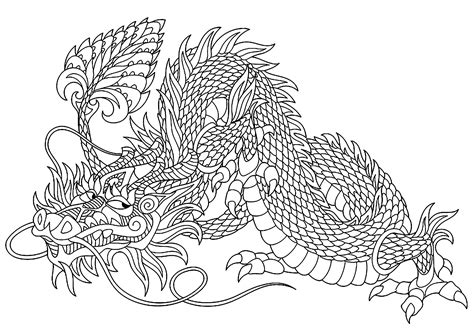 Coloring Dragons by Mischievous Dragons Coloring Pages