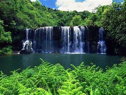 Kauai Waterfalls Island Garden Hawaii Waterfall Hawaiian