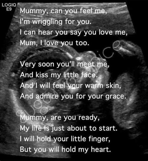 love  verse  ultrasound picture   mom baby