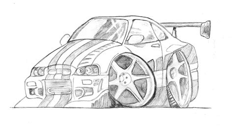 Cartoon Car Drawing