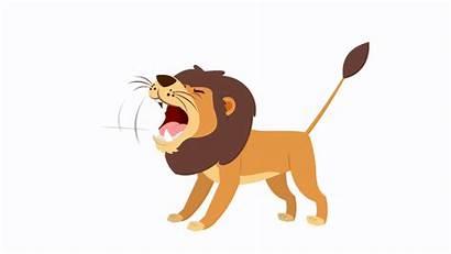 Animals Lion Animated Gifs Roaring Jungle Animations