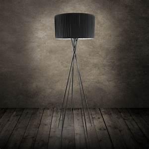 Stehlampe Grauer Schirm : moderne stehleuchte stehlampe lampe wohnzimmerlampe leuchte standleuchte schwarz ebay ~ Indierocktalk.com Haus und Dekorationen