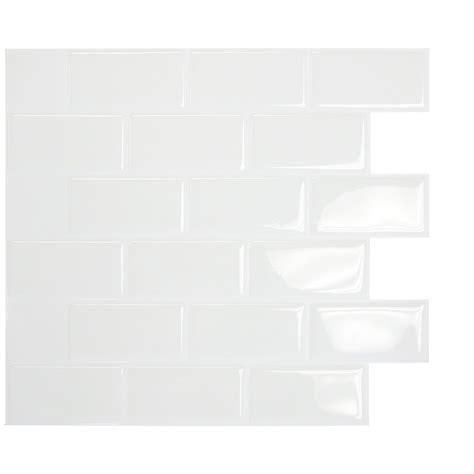 smart tiles mosaik subway white 10 95 quot x 9 70 quot peel