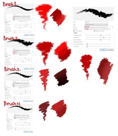 brush settings  cheapkrabs medibang pinterest