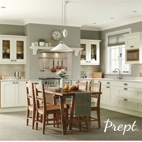 from the brton range this kitchen is in ivory with a