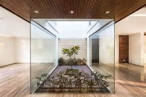 homes with interior courtyards a sleek modern home with indian sensibilities and an interior courtyard