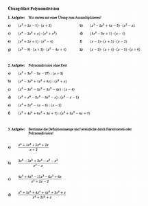Berechnen Von Nullstellen : polynomdivision aufgaben pdf matheaufgaben zur polynomdivision ~ Themetempest.com Abrechnung