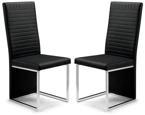 dining chairs black leather and chrome