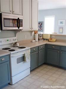 Boring to blue kitchen makeover hometalk for Best brand of paint for kitchen cabinets with gothic wall candle holders