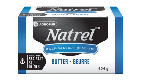 cuisiner sans sel beurre salé à base de crème et sel de mer natrel natrel