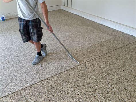 Garage Floor Paint Traction by Best Garage Floor Options Paint Tiles Or Mat The