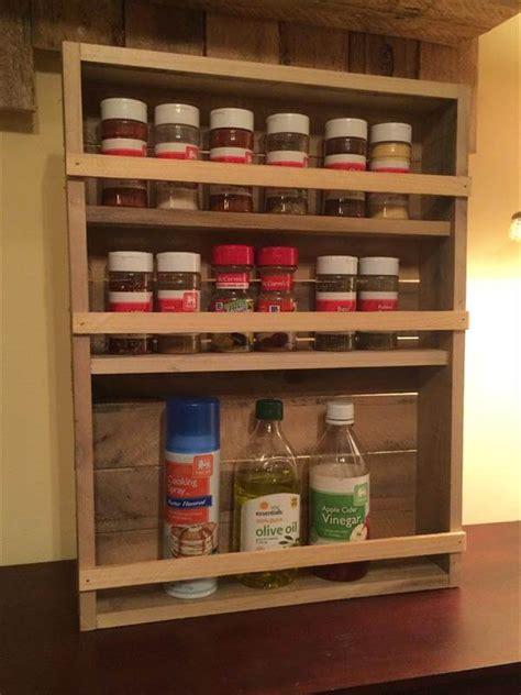 Handmade Spice Rack by Diy Pallet 3 Tray Spice Rack 101 Pallets