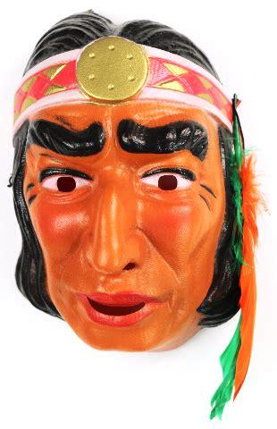 Vintage Indian Halloween Mask Cesar Costume