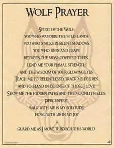 Native American Wolf Prayer