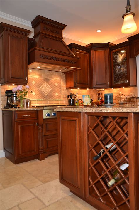 Ideas Kitchen by Leaded Glass Cherry Kitchen Wall New Jersey By Design Line