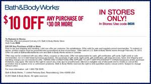 Bath And Body Work Coupon Picture